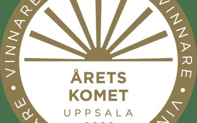 """Vinnare av """"Årets komet"""" vid Företagargalan i Uppsala"""